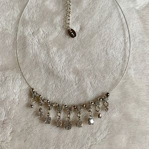 Jewelry - ⭐️4 for $15 Icing Crystal Silver Choker Necklace